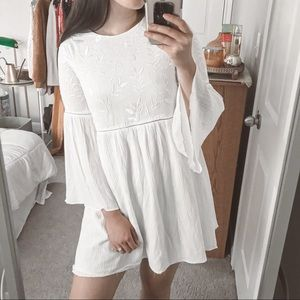 Lulu's Sight To Behold Ivory Embroidered Dress